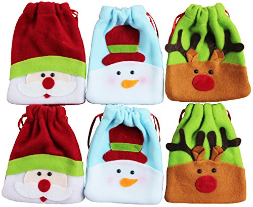 Fabric Christmas Treat Bags - 1