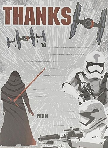 Star Wars Pack Of 20 Thank You Sheets With -