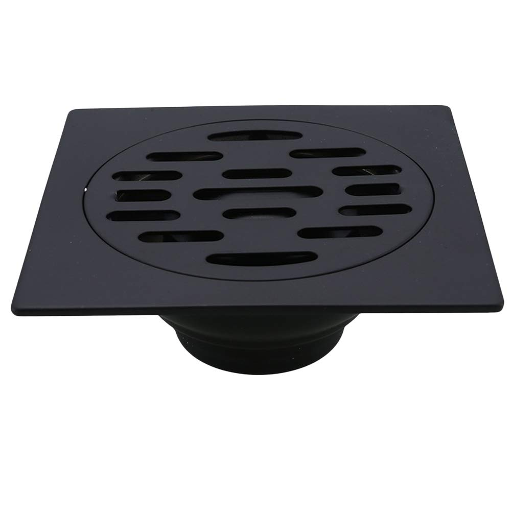 BESTONZON Scarico per bagno nero Scarico per doccia resistente all'acciaio inossidabile con coperchio