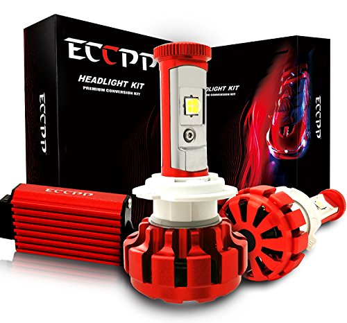 ECCPP LED Headlight Bulbs Conversion Kit High Power Bright- H7 - 80W,9600Lm 6K Cool White CREE - 3 Yr Warranty (H7 Led Error Free Headlight Bulb compare prices)