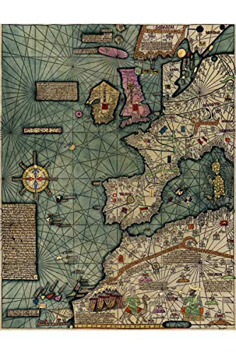 History Prints Cresques Catalan Atlas; World Map; 1387; Antique Map; Plate 1 of 3 ()