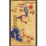 Phoenix Painting Scroll Hanging Wall Art Interior Decor Handmade Asian Print Korean Folk Painting