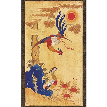 Amazon.com: Phoenix Painting Scroll Hanging Wall Art Interior Decor ...