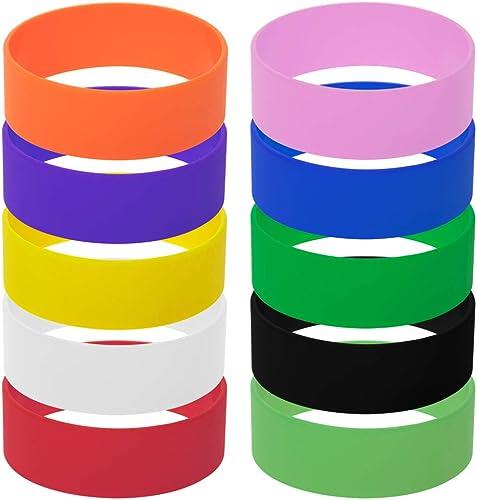 5//10PC Silicone Rubber Elasticity Wristband Sports Casual Flexible Wrist Band