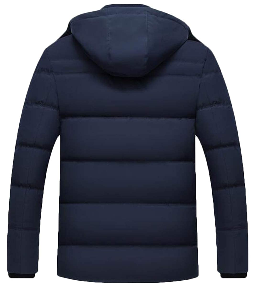 Twcx Mens Quilted Padded Winter Hooded Stand Collar Warm Zip-Up Puffer Coat Jacket