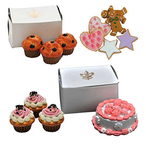 (The Queen's Treasures American Bakery Collection Party Set Includes Cookies, Cupcakes, Muffins, and a Party Cake. Food Accessories Sized to Fit 18 Inch Girl Dolls.)