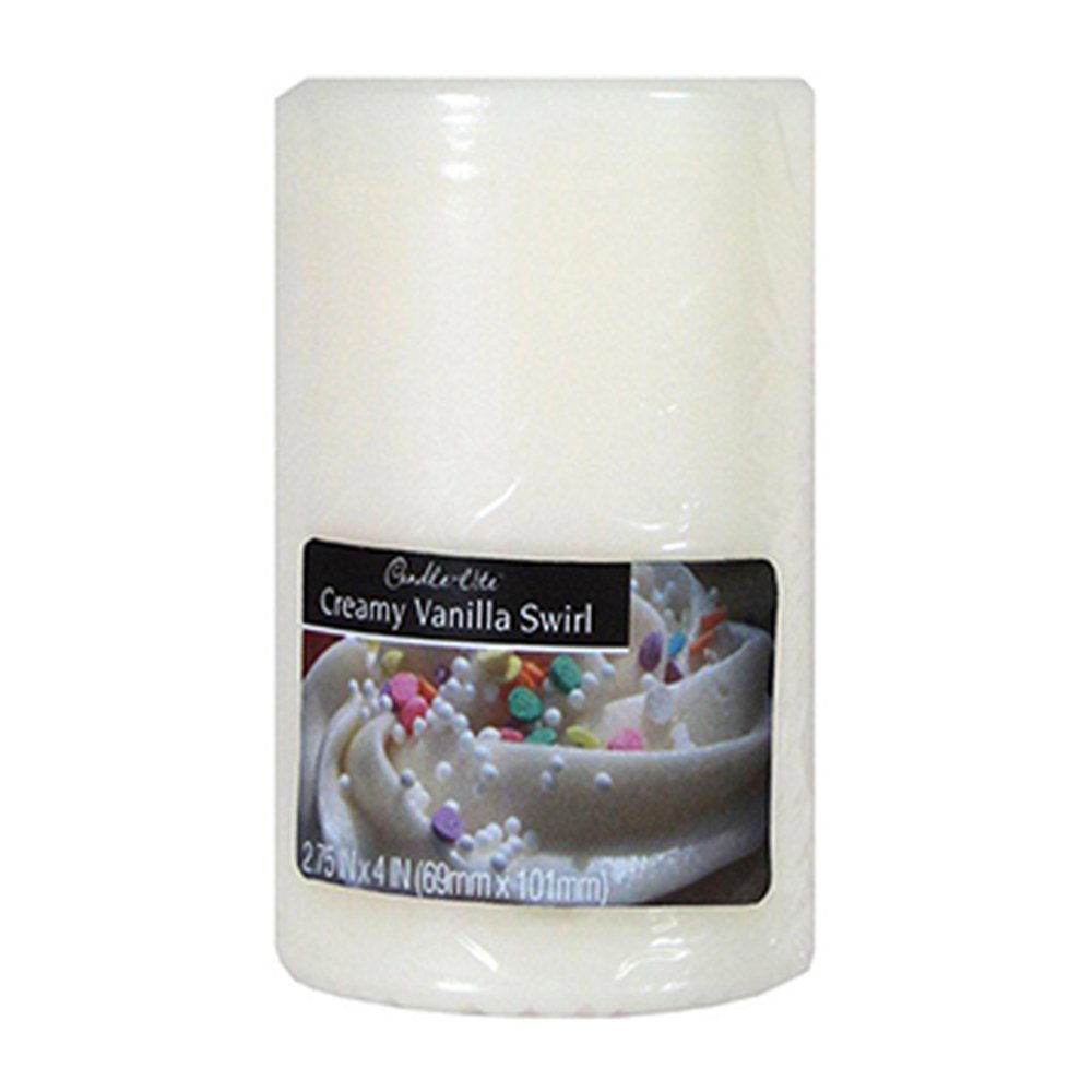 Candle-Lite Pillar Creamy Vanilla Swirl (2.75*4) 105716