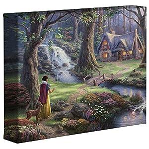 Thomas Kinkade Disney Snow White Discovers the Cottage 8 x 10 Gallery Wrapped Canvas