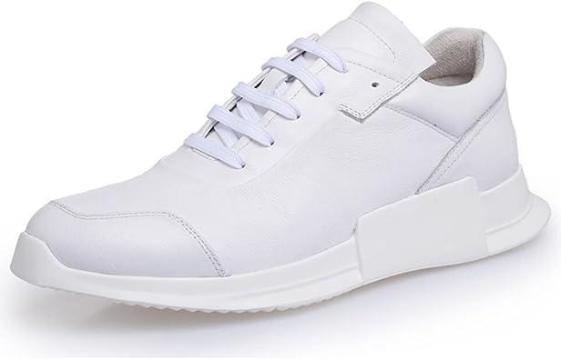 XUEXUE Zapatillas de Hombre de Piel con muelles de Muelle Zapatillas Casual/de Viaje Cubierta Zapatos de Senderismo Zapatos de Running al Aire Libre Zapatos de Cordones Moda: Amazon.es: Hogar
