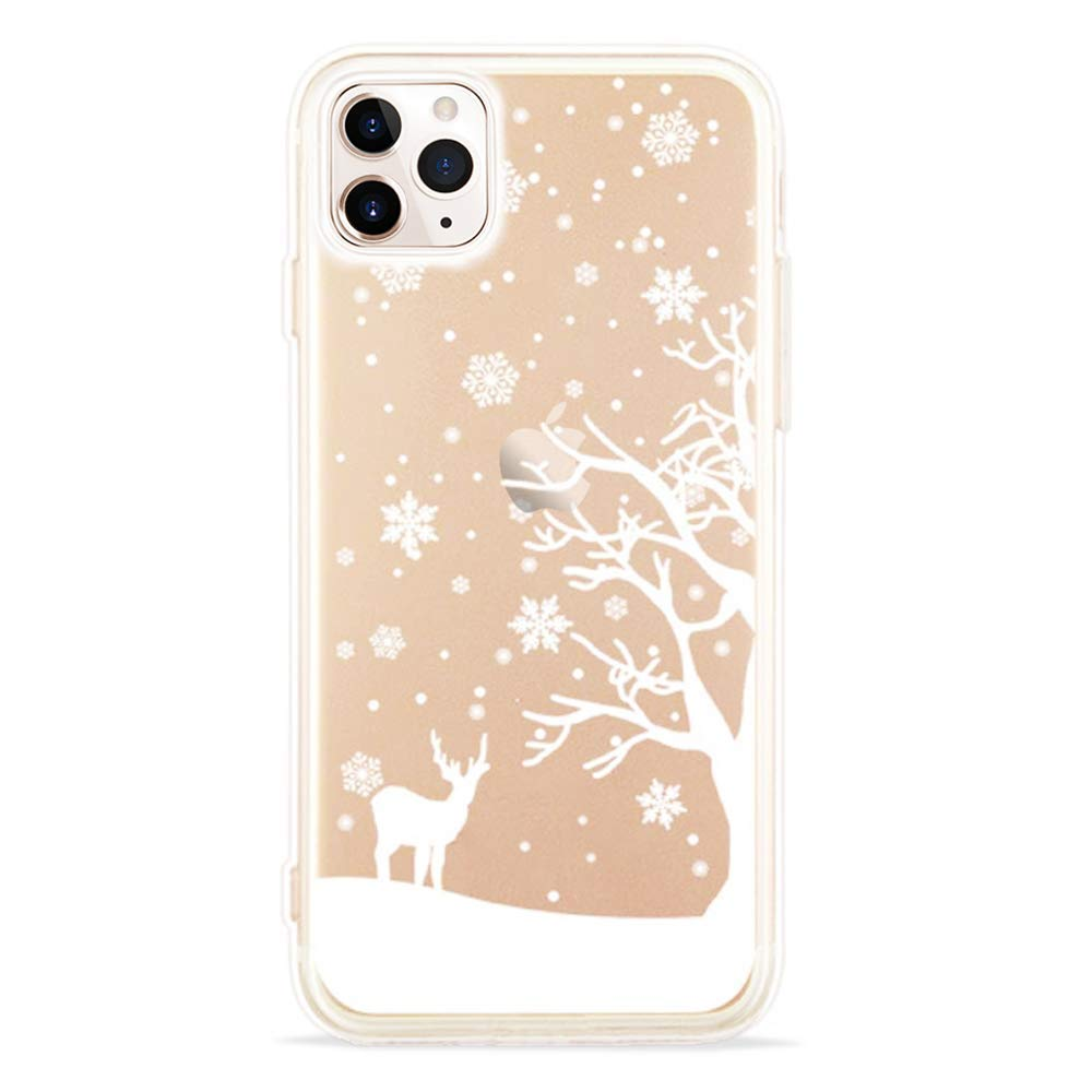 Bumper Case Cover Christmas Soft TPU Bumper Transparent Case Shell Ultra-thin Transparent Silicone Case 4.7 inch LCHULLE Christmas Case for iPhone 6//6S Cover