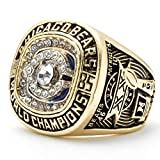 MVPRING Super Bowl 1966-2019 Replica Championship Ring (Size 11) New England Patriots Philadelphia Eagles Denver Broncos Chicago Bears Seattle Seahawks Green Bay Packers (Size 11, 1985 Chicago Bears)