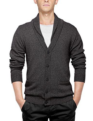 Match Men's Sweater Series Shawl Collar Cardigan (US L (Tag size 2XL), 1611 Charcoal)