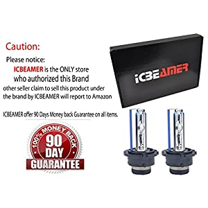 ICBEAMER 30000K D2S D2C D2R Xenon Factory HID Replace Philip Osram OEM Headlight Low beam Light bulbs Color: Dark Blue