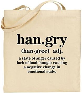 43b68bc8391 Tote Shopping Bag Gift Han.gry Funny Hungry Hangry Joke Shopping Food Xmas  Gift Cool