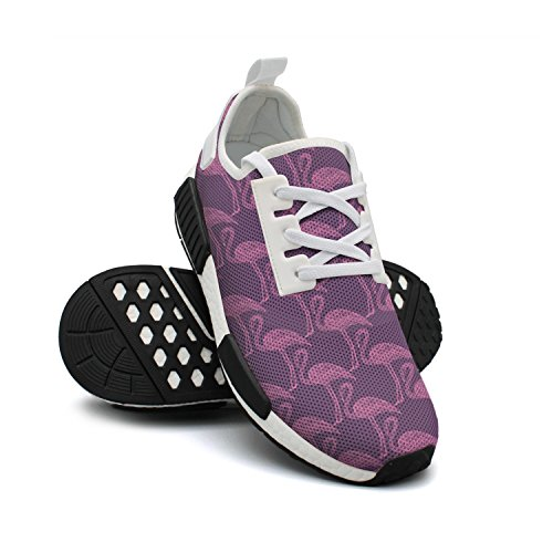 Drawn Lightweight Womens Stylish FAAERD Birds Breathable Mesh Sneakers Sneaker Fashion Hand Flamingo BHxw6Ht0