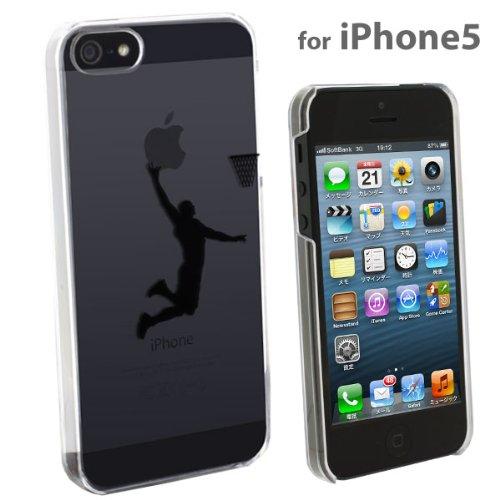 Applus Hard Clear iPhone 5 Case (Black/Basketball)