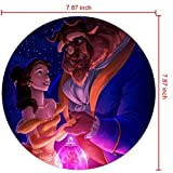 DISNEY COLLECTION Mouse Pad Round Mouse Pad Beauty and The Beast and Roses Anti Drop