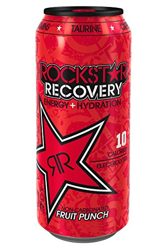 Rockstar Energy Drink Recovery, Fruit Punch, 24 Count