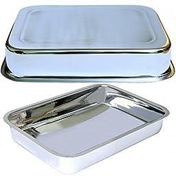 Lu Cucina Versatile Deep Dish Stainless Steel 16\