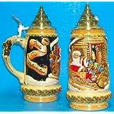 Santa's Sleigh LE German Christmas Beer Stein .5L by King-Werks