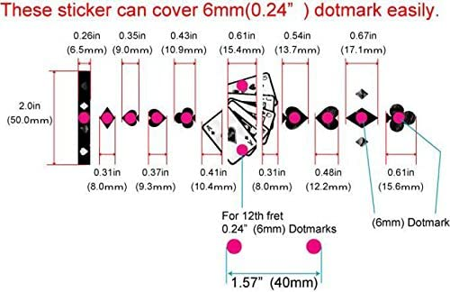 F-020PC-WT  Inlay Stickers Playing Card Fret Markers