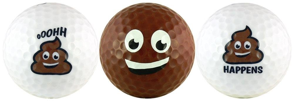Poop Group Emoji Golf Ball Gift Set