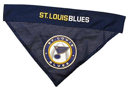 NHL ST.Louis Blues Bandana for Dogs & Cats, Large/X-Large. - Cute & Stylish Bandana! The Perfect Hockey Fan Scarf Bandana, Great for Birthdays or Any Party! -