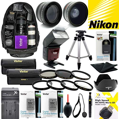 Nikon COOLPIX P1000 Premium Accessory KIT Lenses Flash Tripod Filter Wide Angle 77MM Backpack All You Need Professional HD 8K 4K