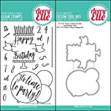 ShopForAllYou Stamping & Embossing (Stamp & Die Bundle)''TIME to Party'' Clear Stamps Only OR Clear Stamp