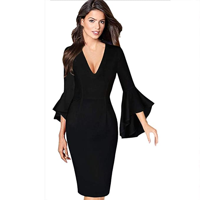 04fad9c624421 Amazon.com  Clearance Sale! Oliviavan Women Sexy Long SleeveDresses ...