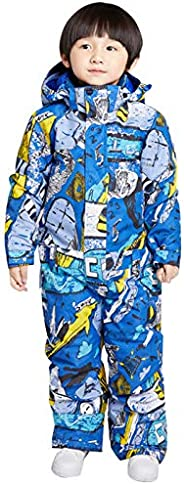 Kid's Snowsuits One Piece Ski Suits Waterproof Jumpsuits Insulated Snow