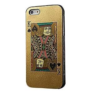GJY Poker Cards Design Hard Case for iPhone 5/5S/5G(King Red Or King Black)