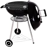 Kettle Charcoal Grill Outdoor Backyard BBQ Cooking with Wheels Black 22.5 Inch