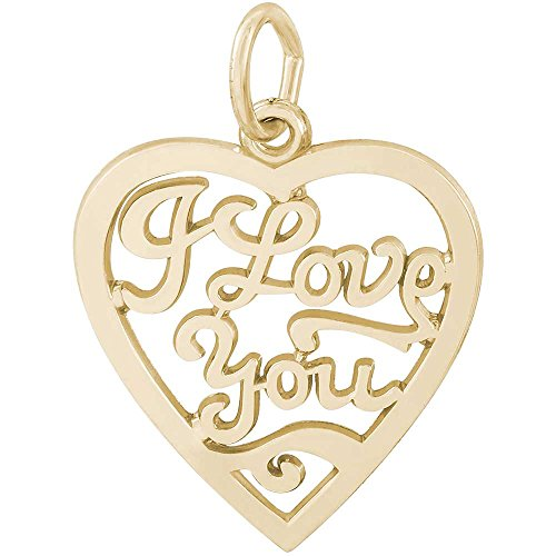 Rembrandt Charms I Love You Charm, 14K Yellow Gold by Rembrandt Charms