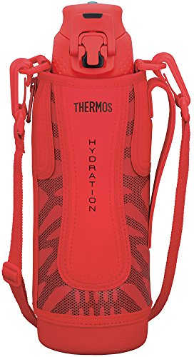 Thermos vacuum insulation sports bottle [one-touch open type] 1.0L Red Black FFZ-1001F RBK by Thermos