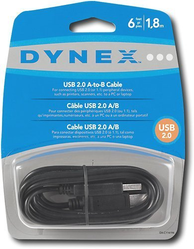 Dynex - 6 USB 2.0 A/B Cable DX-C114194