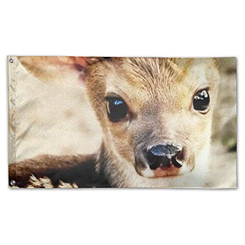 YUANSHAN Home Garden Flag Cute Deer Polyester Flag