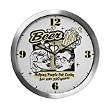 Modern Wall Clock Beer: Helping People Get Lucky
