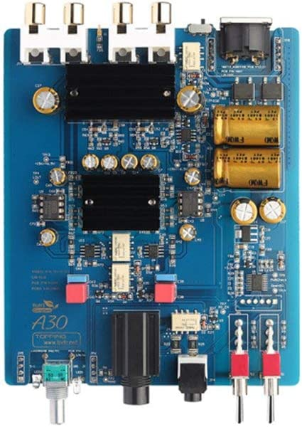 A30 Silver Topping A30 HiFi Desktop Headphone Amplifier 3.5mm//6.35mm Headphone Output Silver