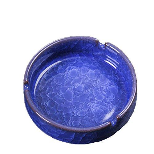 YOURNELO Creative Ceramic Cracks Pattern Cigarette Ashtray (Blue)