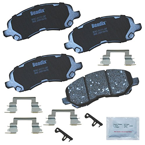 Bendix Premium Copper Free CFC866 Premium Copper Free Ceramic Brake Pad (with Installation Hardware Front)