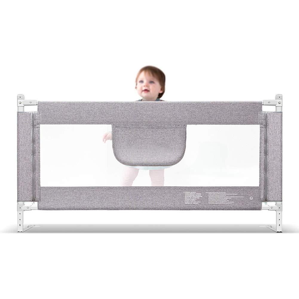 ベッドフェンス- グレー 子供用ロングベッドレール、 子供用ベッドガード 調節可能な高さ、 垂直リフトベビーベッドレール、 エクストラトール90cm (サイズ さいず : 200cm) 200cm  B07P6KWS7L