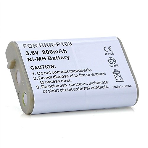 YCM 3.6V Cordless Phone Battery for Panasonic HHR-P103 HH...