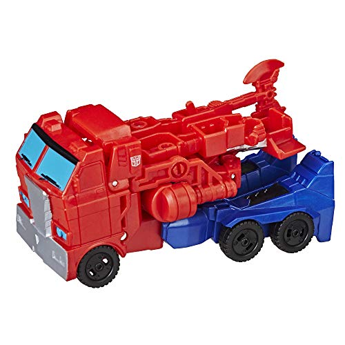 - Transformers Cyberverse Action Attackers: 1-Step Changer Optimus Prime Action Figure Toy