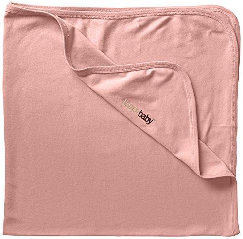 L'ovedbaby Unisex-Baby Newborn Organic Swaddling Blanket, Coral, One Size (Dye Infant Blanket)