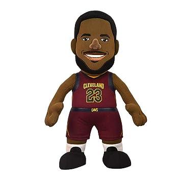 Poupluche (Muñeco de peluche) LeBron James - Icon Camiseta - Cleveland Cavaliers: Amazon.es: Deportes y aire libre