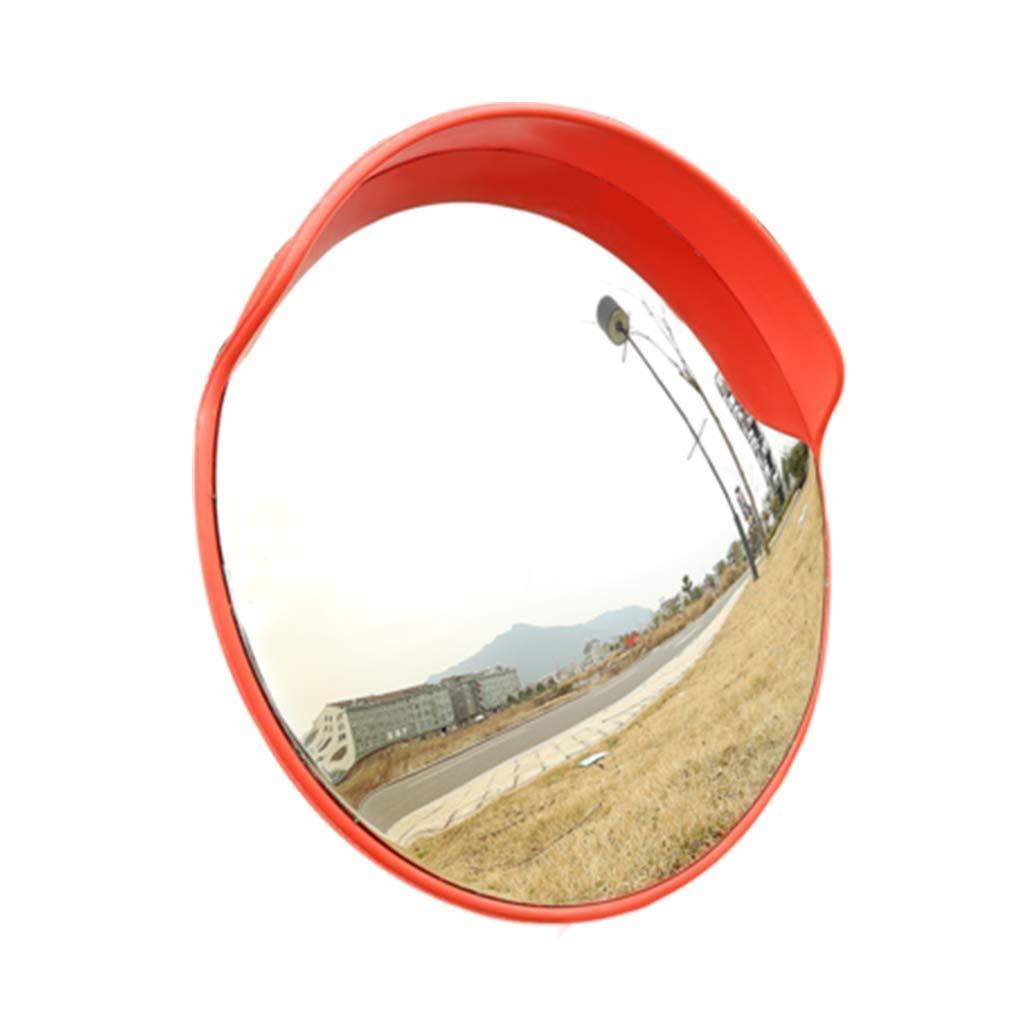 Geng カーブミラー 安全ミラー円形のオレンジ色の信号機広角レンズ湾曲した凸面鏡、45cm該当する駐車場と高リスクの衝突   B07TV77S89