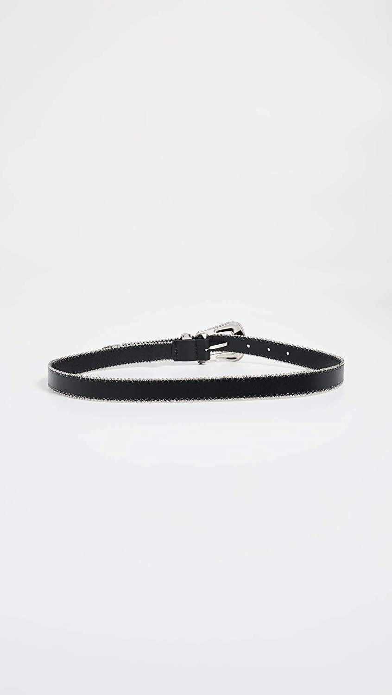 Rebecca Minkoff Womens 25 mm Smooth Ball Chain Belt Black//Nickel XL