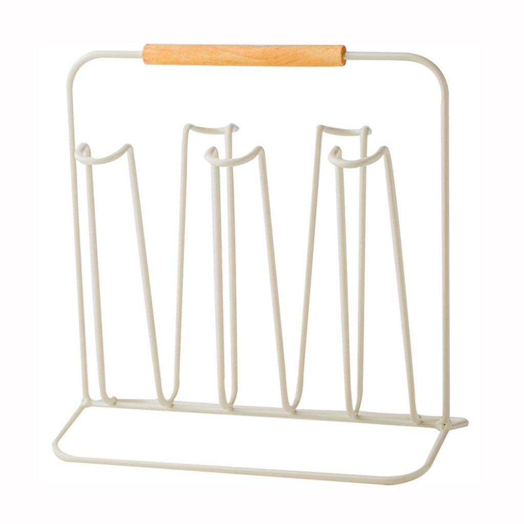 He Xiang Firm Desktop Stand Hanging Cup Holder 5 Metal Wine Cup Holder Kitchen Living Room Mug Glass Cup Drain Rack