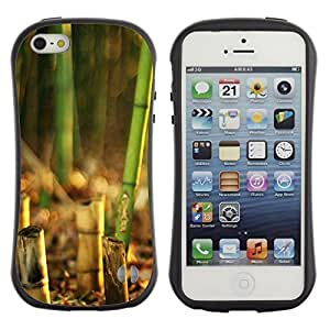 Suave TPU Caso Carcasa de Caucho Funda para Apple Iphone 5 / 5S / Nature Beautiful Forrest Green 135 / STRONG